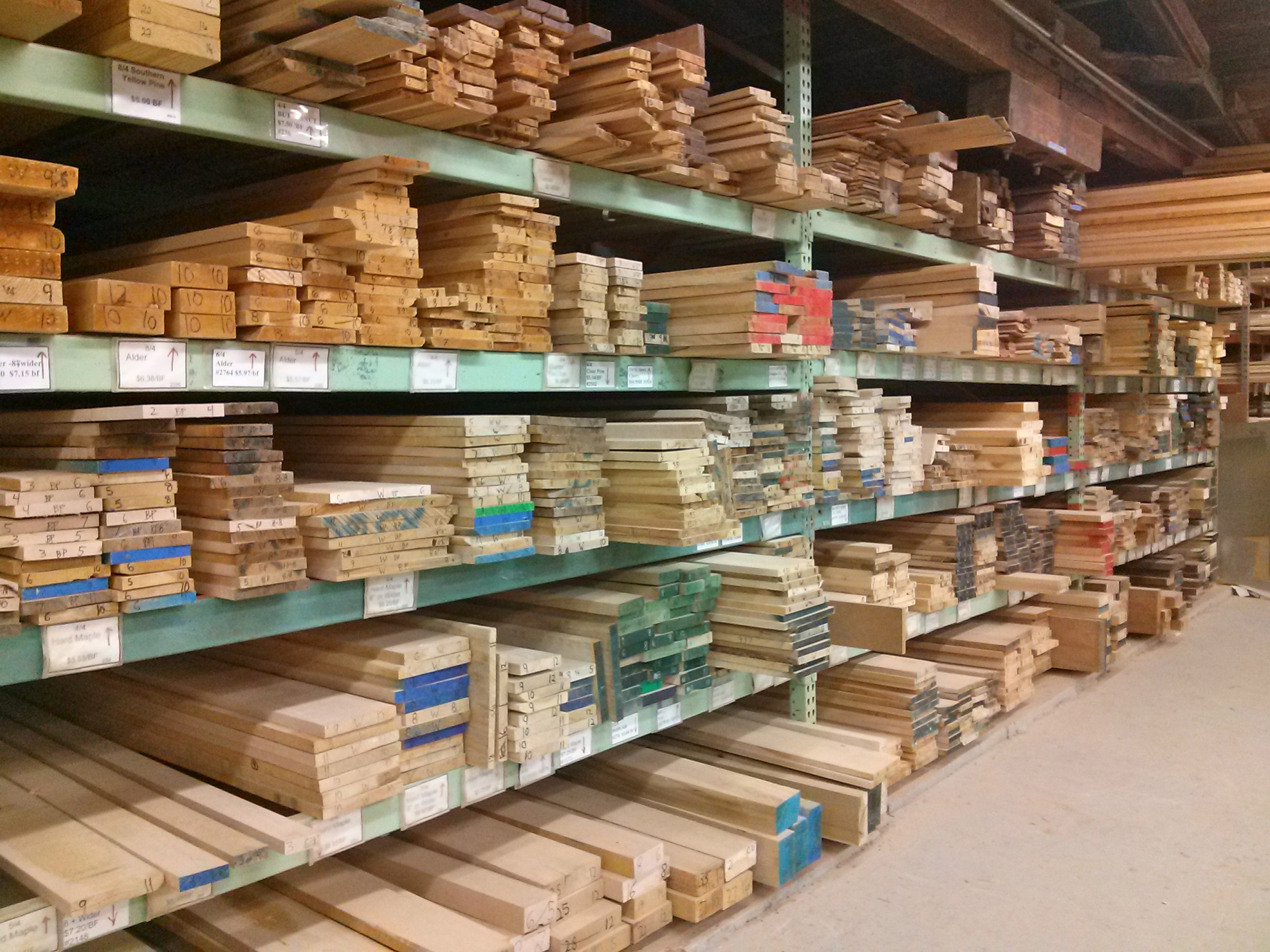 This is part of our Domestic lumber inventory.