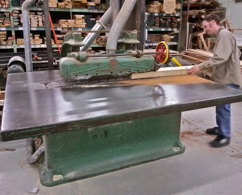 "Our straight line rip saw can rip lumber up to 4"" thick."